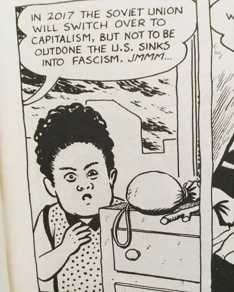 I think @BetomessGilbert is a prophet. From Love & Rockets #17, 1986 https://t.co/7Uq12qPggF