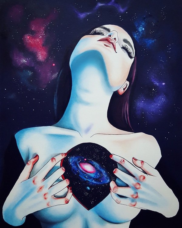 Space worms mine darkly in holes of #cosmic blackness, universe balanced - John Smith -Cosmic, Harumi Hironaka- <br>http://pic.twitter.com/kYv6vnan3f
