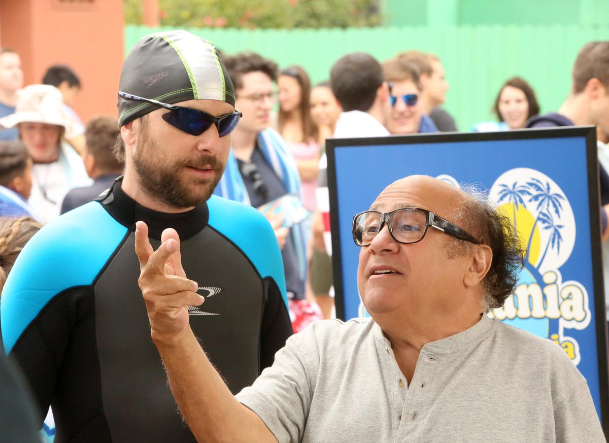 The gang goes to a water park...what could possibly go wrong? #SunnyFXX @DannyDeVito<br>http://pic.twitter.com/39OmrpTYk3