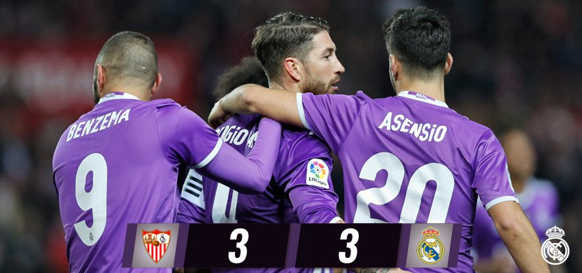 Coppa del Re: Siviglia-Real Madrid finisce 3-3 (VIDEO) e Record imbattibilità (40 partite)
