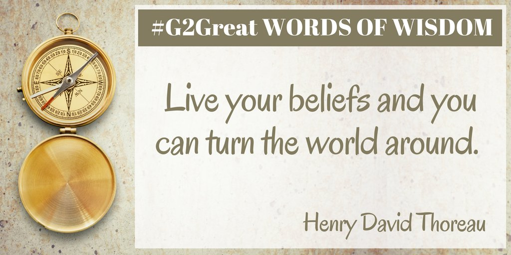 Words of wisdom - our wish for everyone... #G2Great https://t.co/EXkmJo6UrH