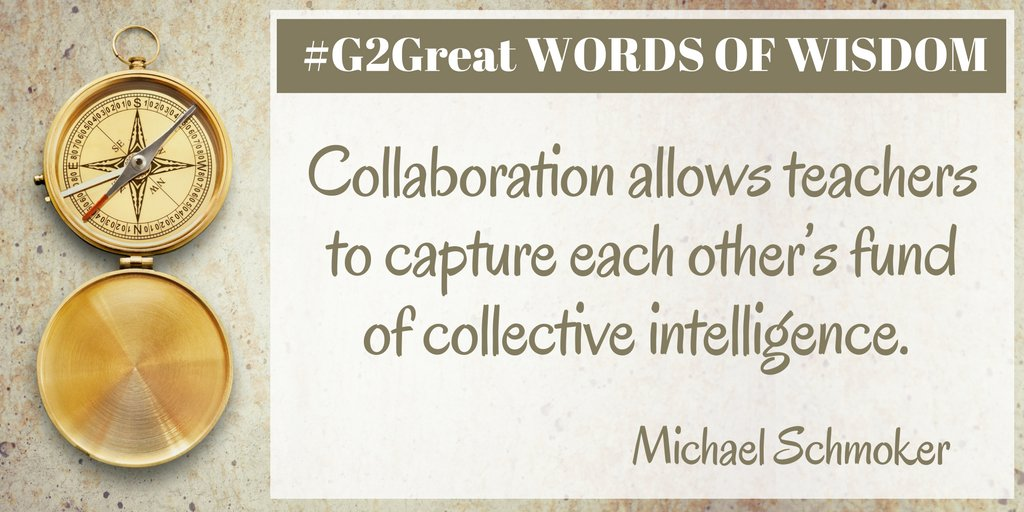 Words of Wisdom that really speak to what #G2Great is all about https://t.co/CO8IshM1OK