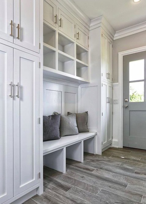 Here's a bit of mudroom inspiration for anyone looking to tame the cold weather clutter. Stop into our showroom to get started on your own! https://t.co/tSl9MnFI36
