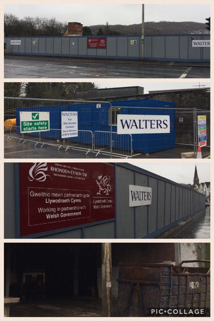 #newyear #newcontracts former Taff Vale Centre for @RCTCouncil #Pontypridd #towncentre #demolition @TheWaltersGroup<br>http://pic.twitter.com/798BphNBV9