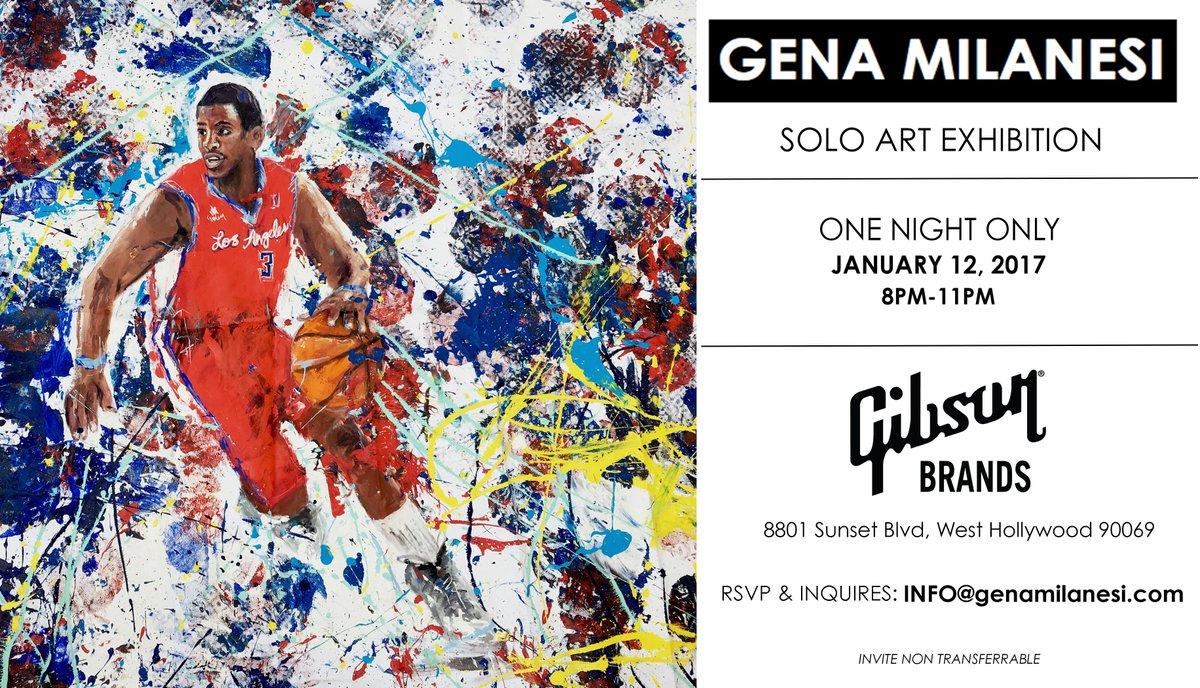 LA! Make sure to check out @GenaMilanesi\'s one man show tonight!