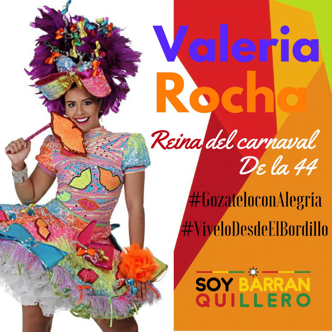 @valeriarochaf_ es la reina del Carnaval de la 44 y se define como una soberana totalmente #Alegre y unida por la tradición.   <br>http://pic.twitter.com/2IIH6xUkQt