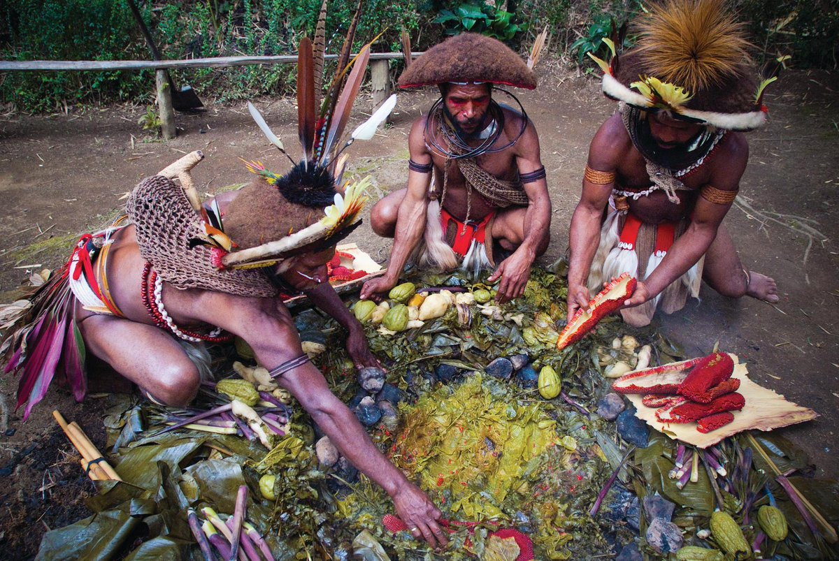 Papua New Guinea On Twitter Mumu Is The Traditional Style Of