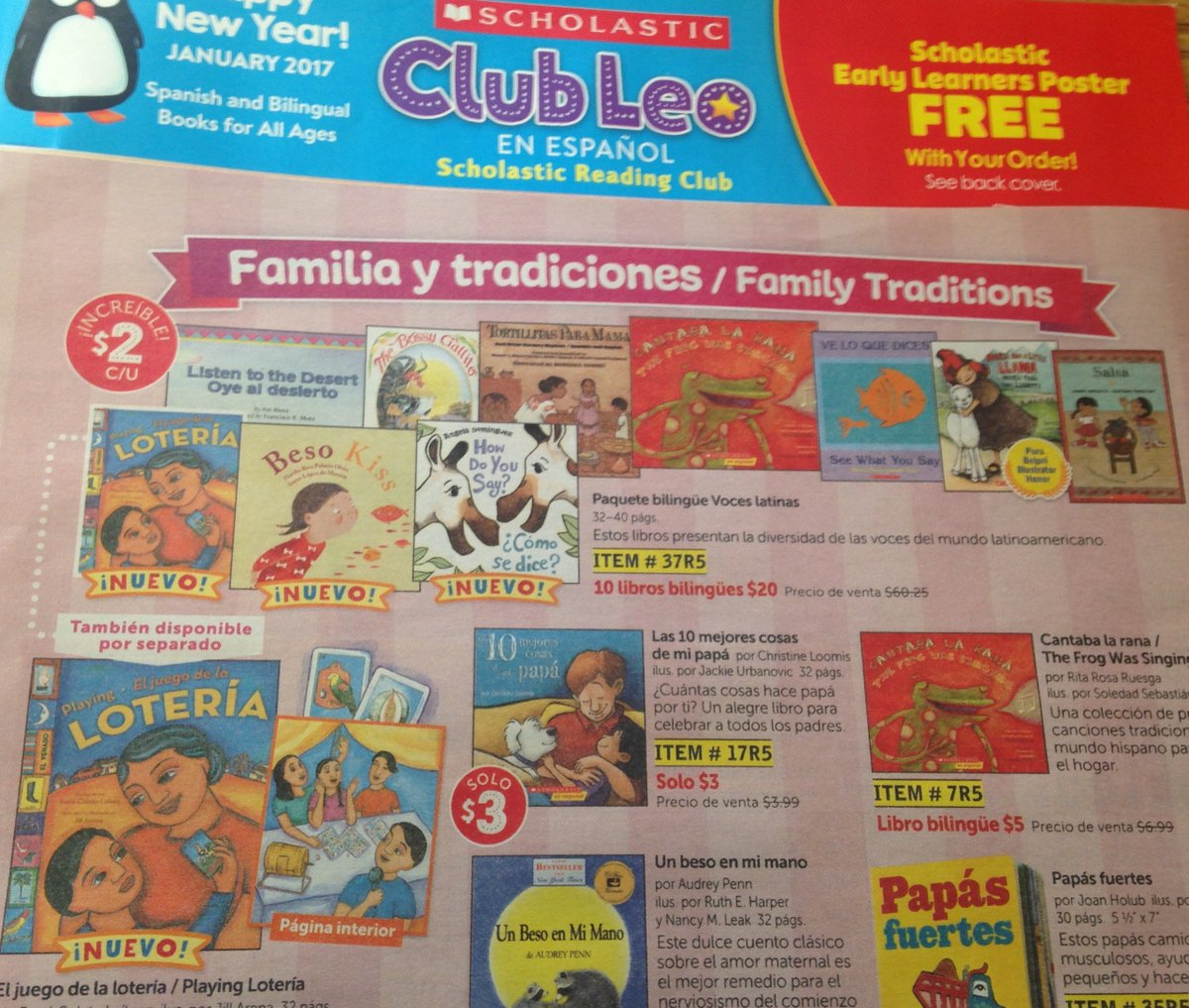 Rene Colato Lainez On Twitter Great News Loteria Is Part Of The Scholastic Club Leo En Espanol My Students Will Want To Order Some Books