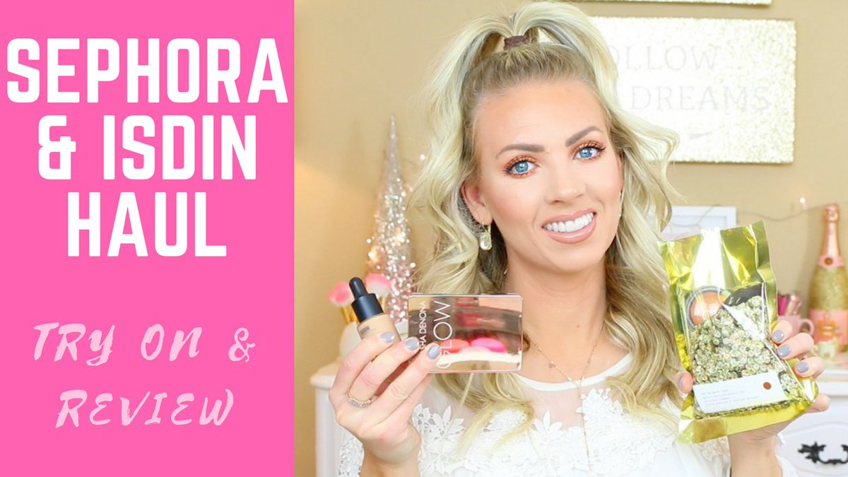 I have a new @ISDIN_Official skincare &amp; @sephora try on makeup haul up!! #Isdinceutics #ad #sephorahaul #haul  https://www. youtube.com/watch?v=QwUw2Q 1WP5A&amp;feature=youtu.be&amp;a &nbsp; … <br>http://pic.twitter.com/pxewmSSyN5