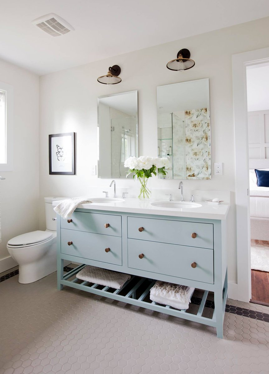 Cosentino Aust Nz On Twitter This Beachy Bathroom Design Is Perfect For Summer In Australia A Wooden Light Blue Vanity With Silestone Ariel Top A Splendid Match Https T Co Iopqagzlr3
