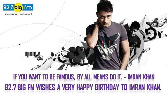 wishes Imran Khan a very Happy Birthday.