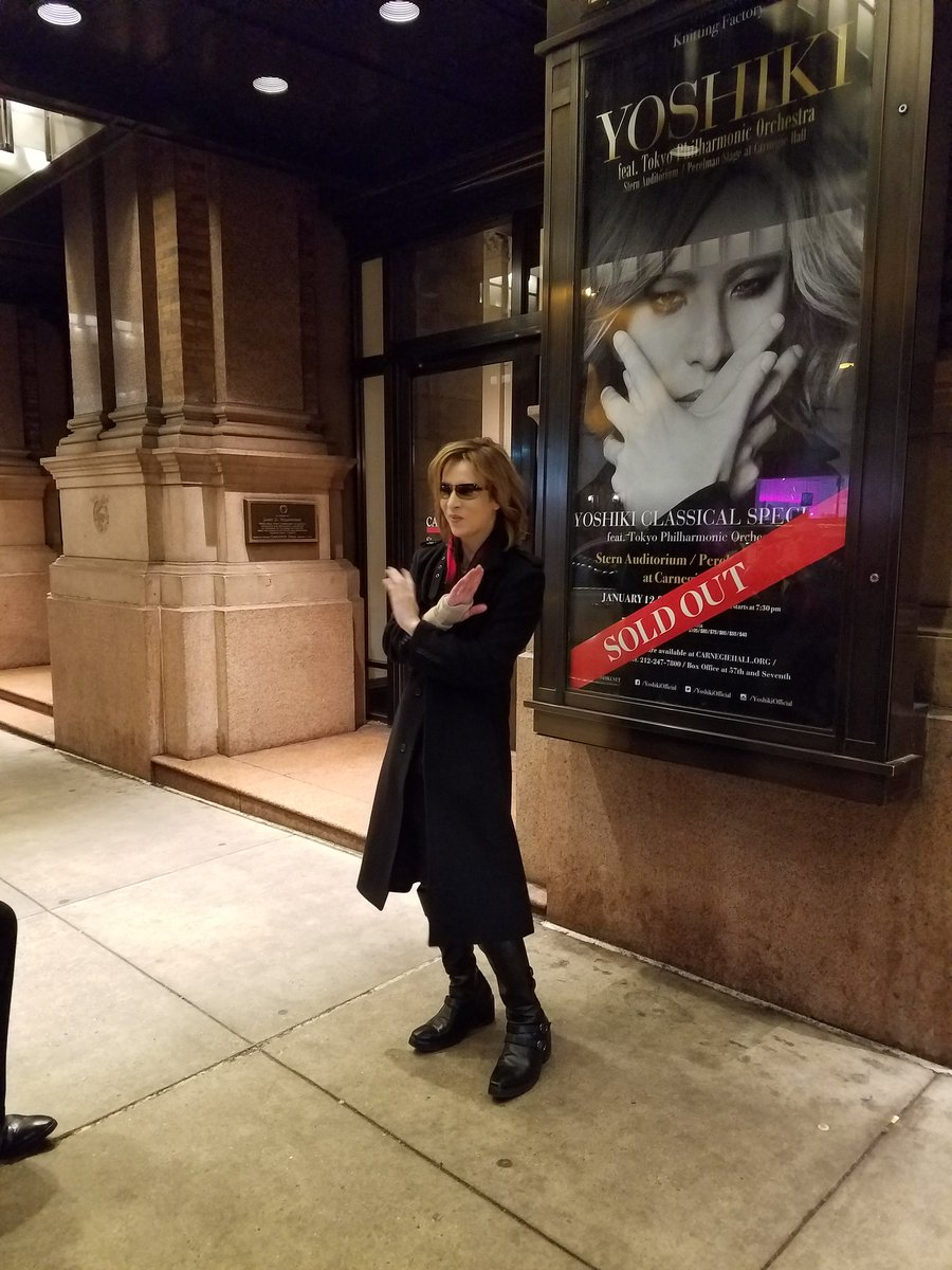 @YoshikiOfficial you made my night! Congrats on a sold out amazing show #CarnegieHall #2017 #XJapan <br>http://pic.twitter.com/E1YV2HvNHm