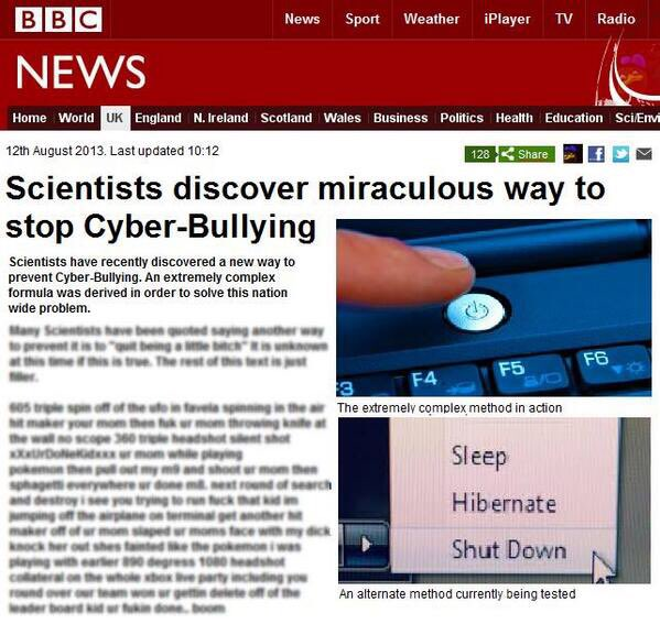 How is cyberbullying even real