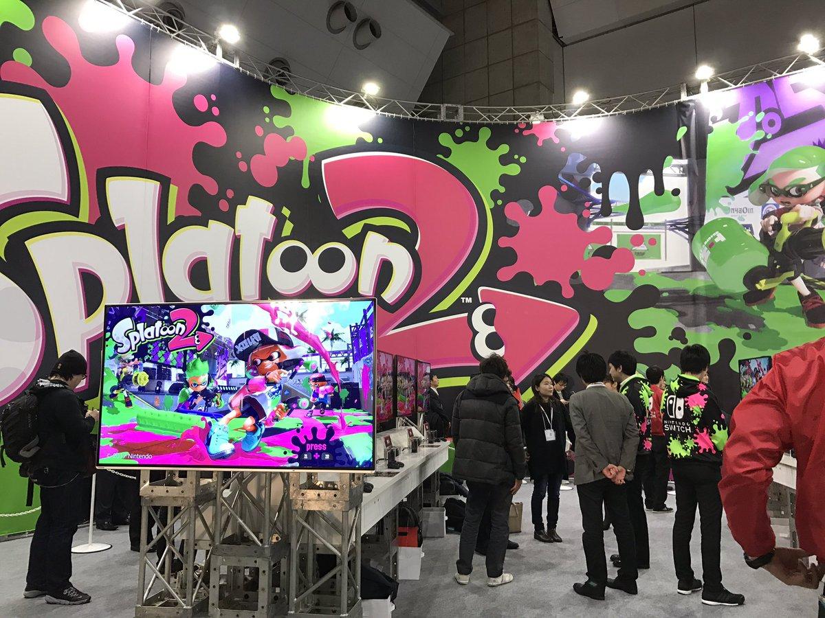 体験会ブースにSplatoon2の試遊台がありました!!!!これは明日の一般デイでも遊べるのかな?(なっつ)https://t.co/Trrh21zVk8 #NintendoSwitch #Splatoon2 https://t.co/ByEpjEQtuV