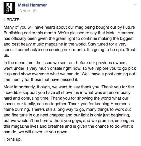 We're back. Spread the word. https://t.co/Kfkbn7YnSF
