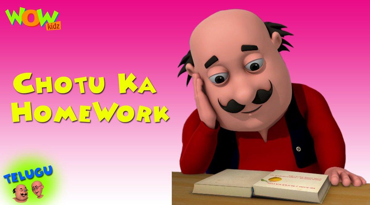 Zia Ur Rehman On Twitter Chotu Ka Home Work Motu Patlu In Hindi
