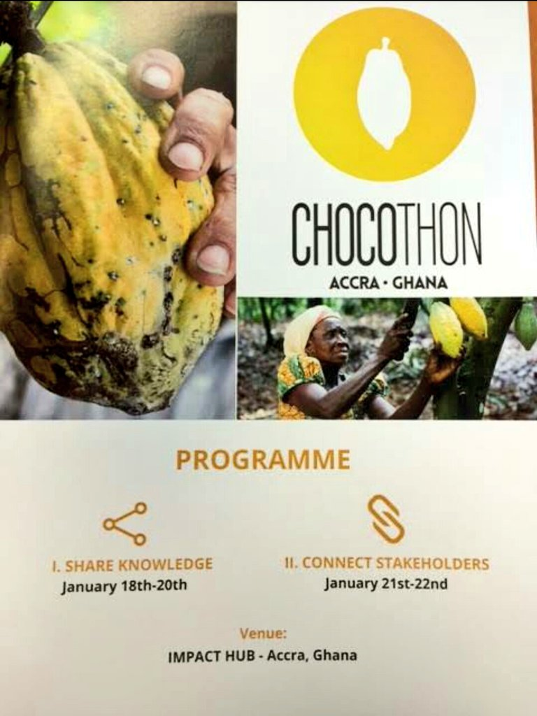 First ever #hackathon for coco industry @chocothonghana program is out - super excited to see this happening!!!  #cocohacking #accra #joinus https://t.co/t3d7U1crxV