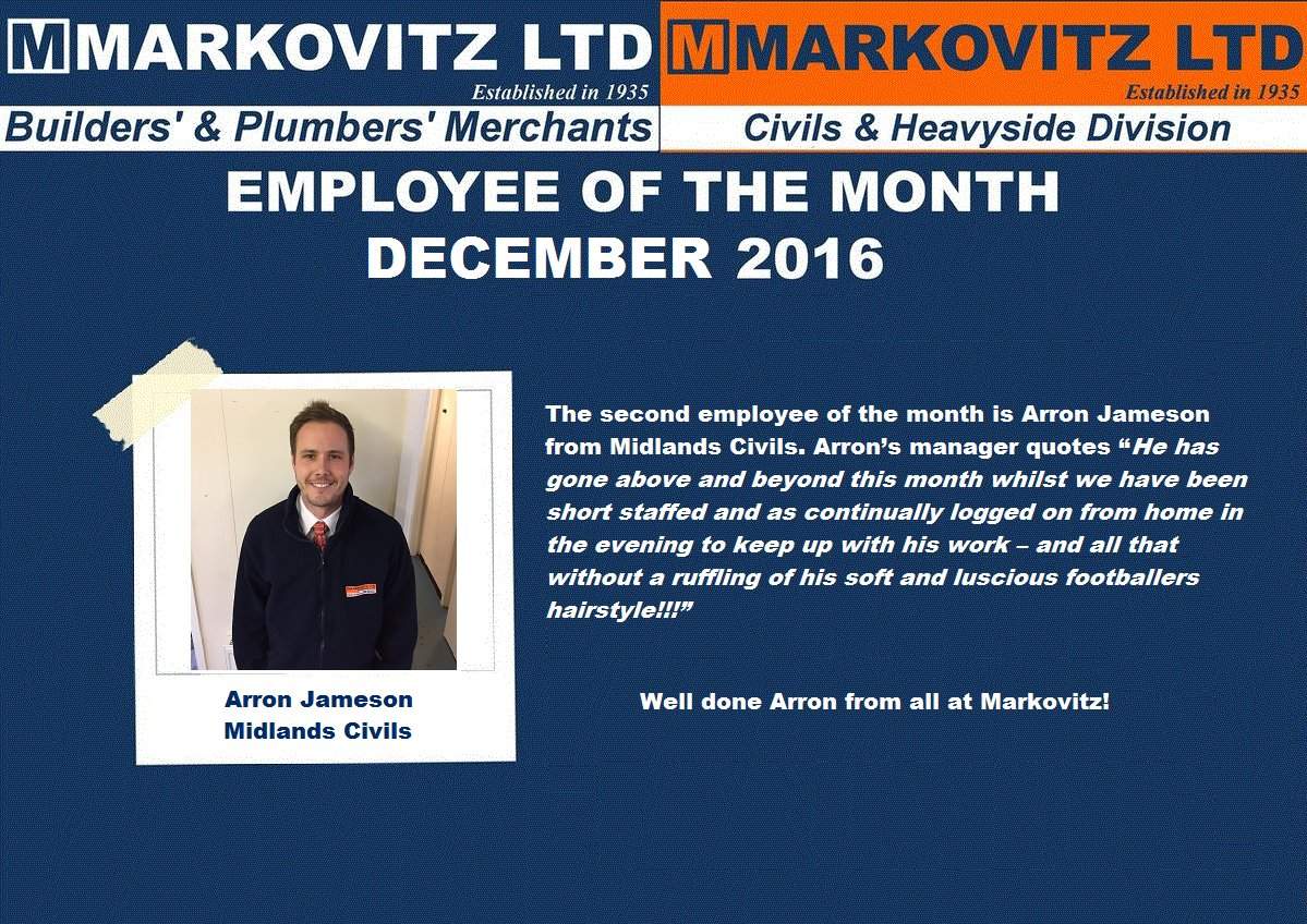 "Employee Of The Month Quotes Markovitz On Twitter ""employee Of The Month December 2016 Well"