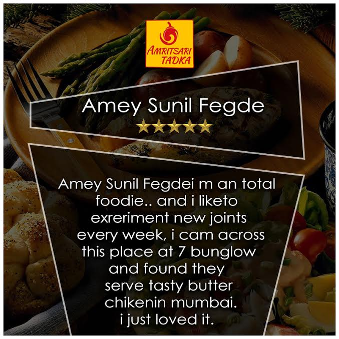 Thank you Amey for giving this amazing review.#AmritsariTadka  Call Now:02264463871/02264463869 #restaurant #food #mumbai #Andheri #cuisines <br>http://pic.twitter.com/VuOl9hcfyx