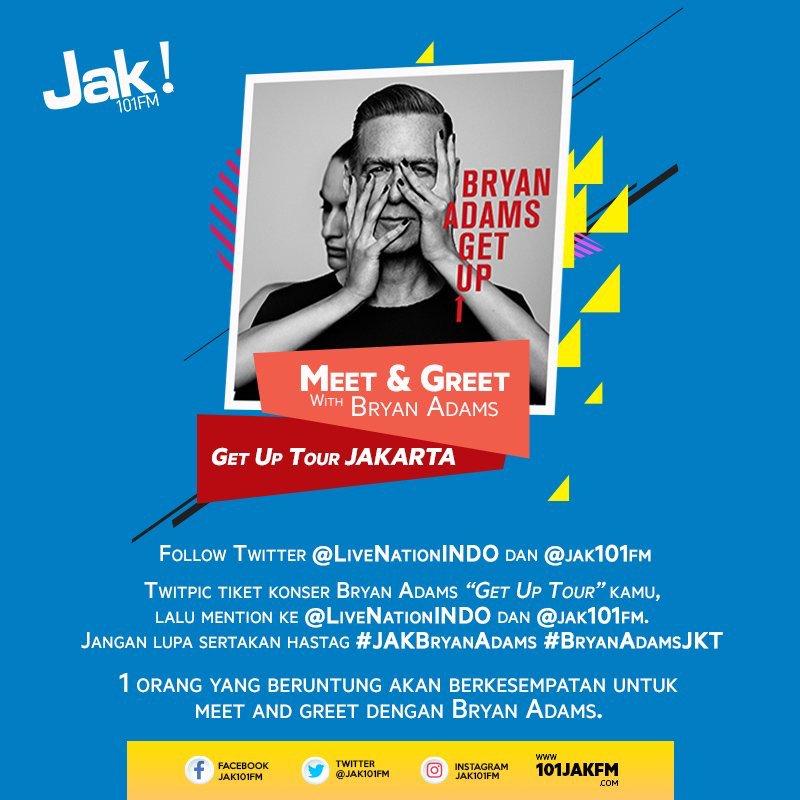 Siapa yang mau meet & greet sama Bryan Adams? Langsung aja yuk twitpic tiket konser Bryan Adams kamu! #JAKBryanAdams #BryanAdamsJKT https://t.co/Gglc0Gd1a4