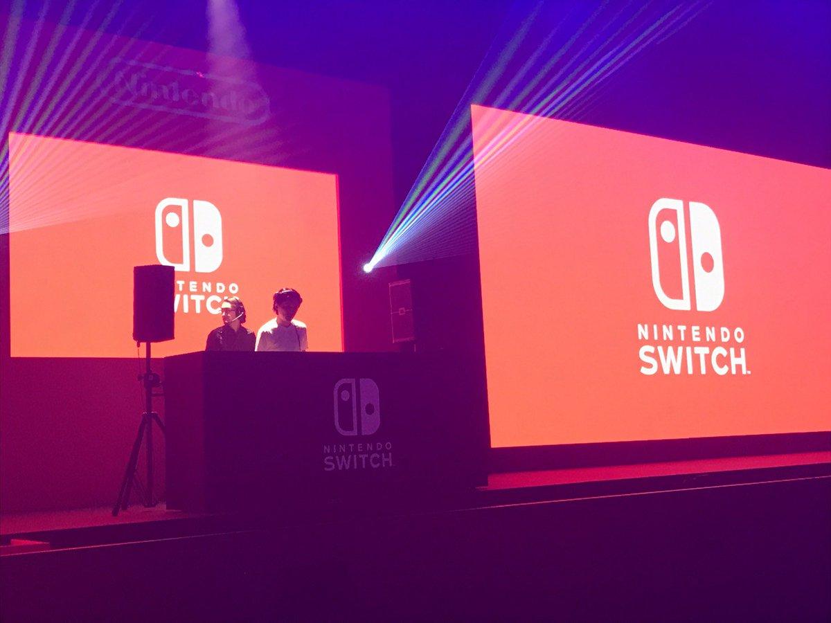 本日東京ビッグサイトで行われた #NintendoSwitchPresentation 、オープニング・ムービーの音楽プロデュースと会場内DJで参加してきました