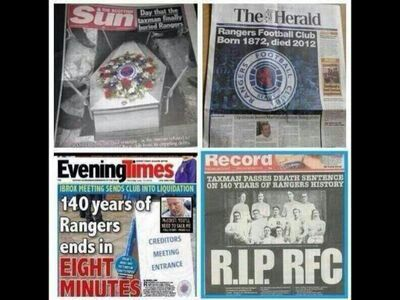Here&#39;s a Truth The Dead RFClubLtd(IL)1872-2012 #RIP Wrecked &amp; Vandalized &amp; Cheated ScottishFootball for #Years @ScottishFA @spfl @UEFA Karma<br>http://pic.twitter.com/yI7BLlChFJ