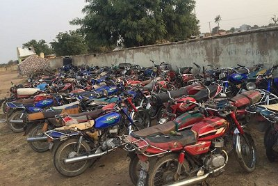 Four Boko Haram terrorists' members, carrying concealed one hundred motorcycles have been arrested by Nigerian troops of 27 Task Force Brigade.