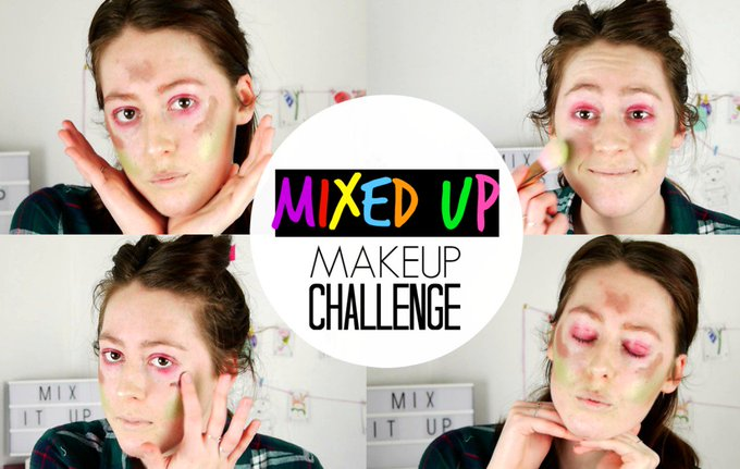 MIXED UP MAKEUP CHALLENGE!