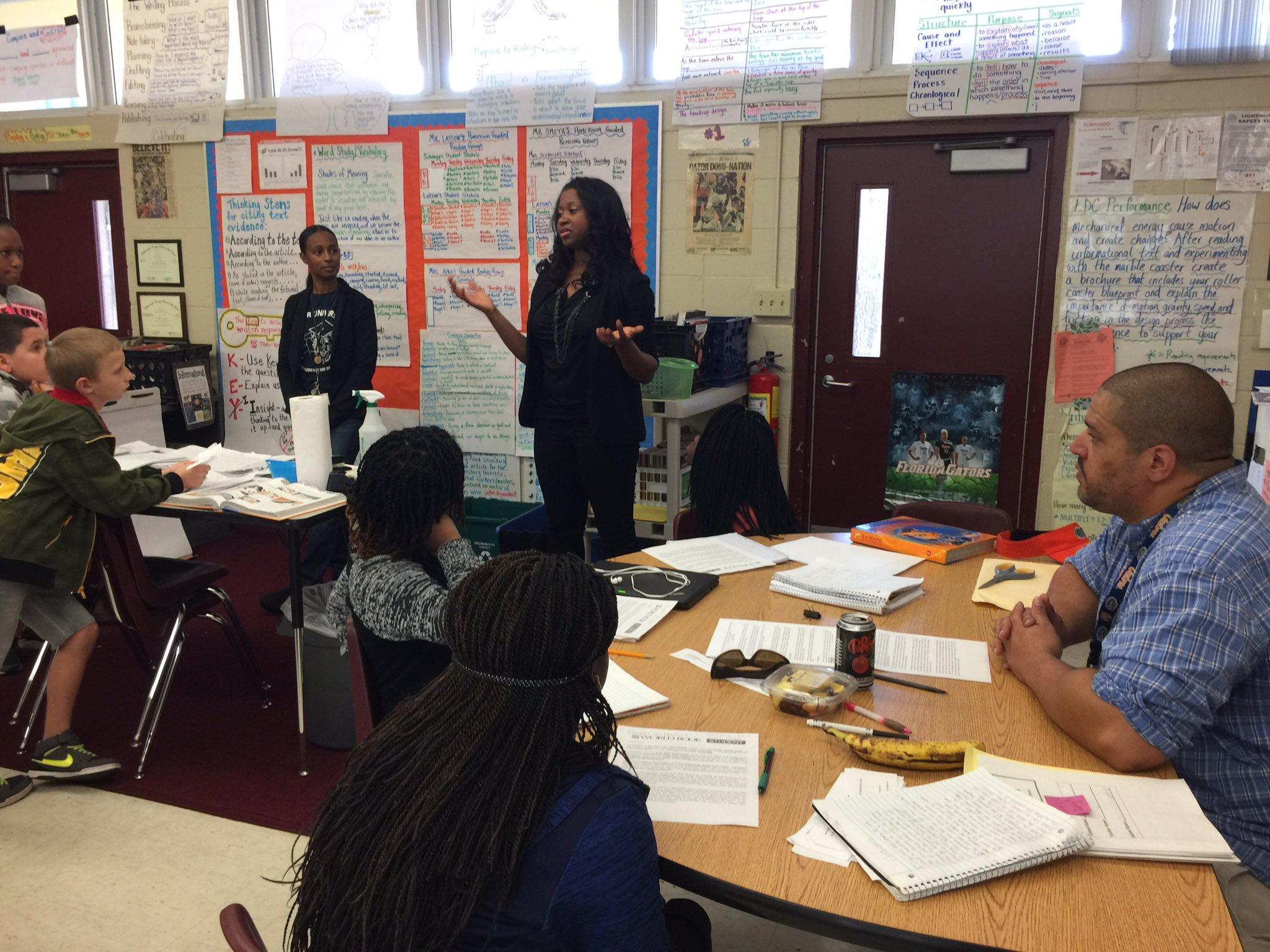 Dr. Talmesha Richards speaking to Students