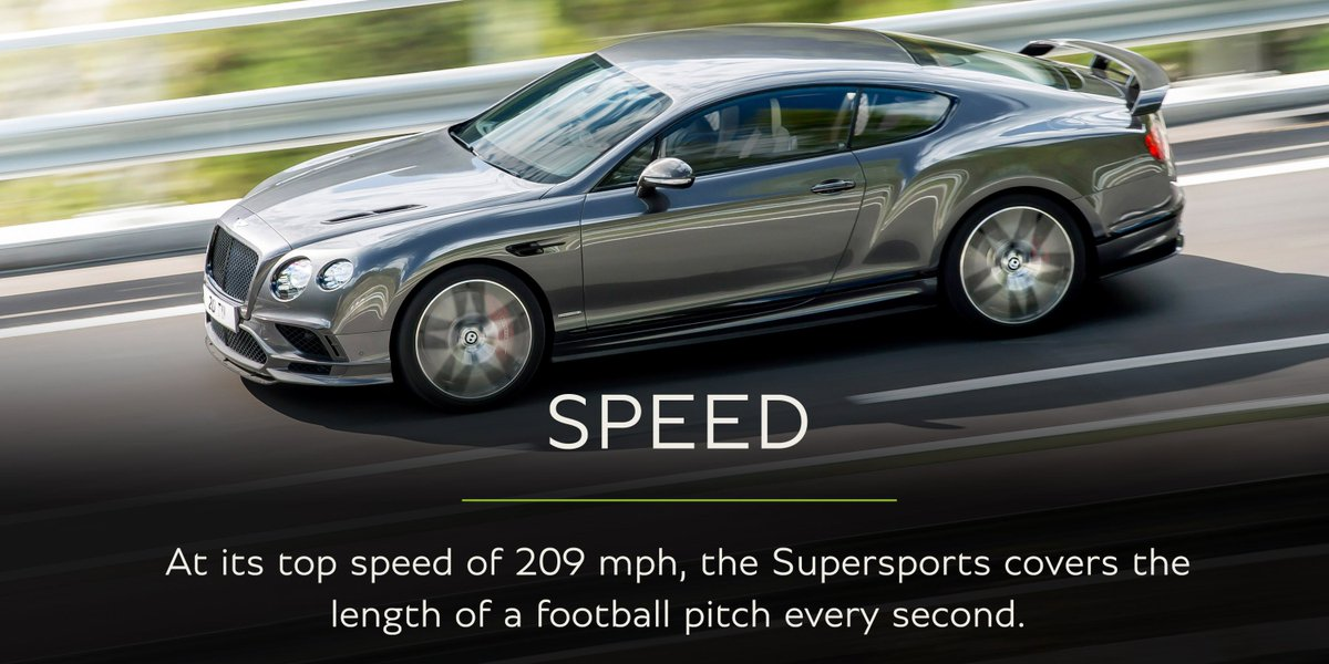 At its top speed of 209mph #Supersports covers the length of a football pitch every second: