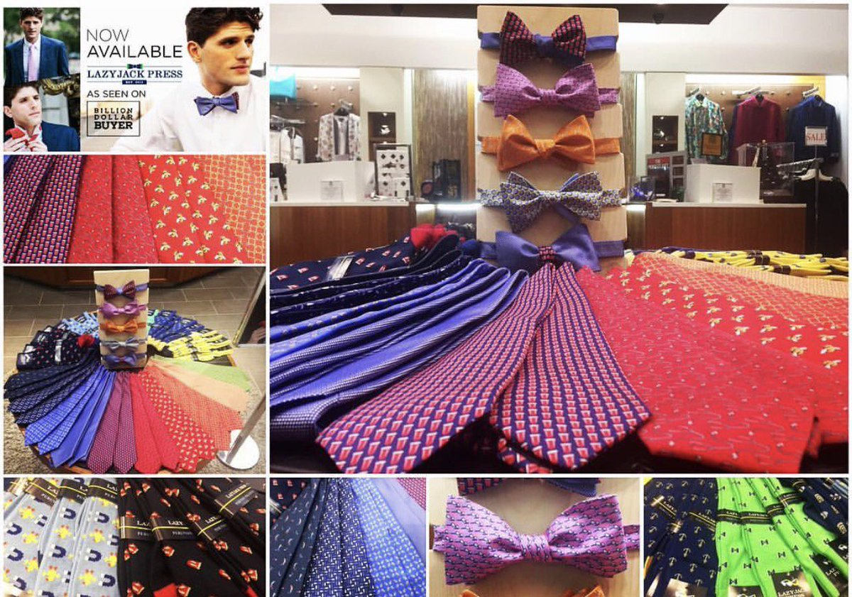 Love what the @goldennuggetac did with their display of our #ties, #bowties + #socks! @BillionDollarTV @TilmanJFertitta #tgif<br>http://pic.twitter.com/6VdfBbmXce