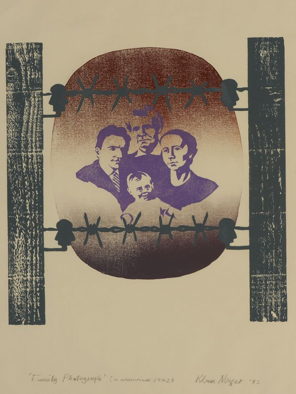 Family Photograph by Klaus Meyer reveals the story of what happened to his family in the Holocaust through this art work. #HMD2017