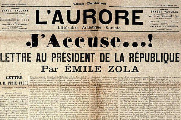 Le 13 Janvier 1898 #Emile #Zola publiait &quot;j &#39;accuse&quot; sa lettre au #président... <br>http://pic.twitter.com/QwuXULuAhQ