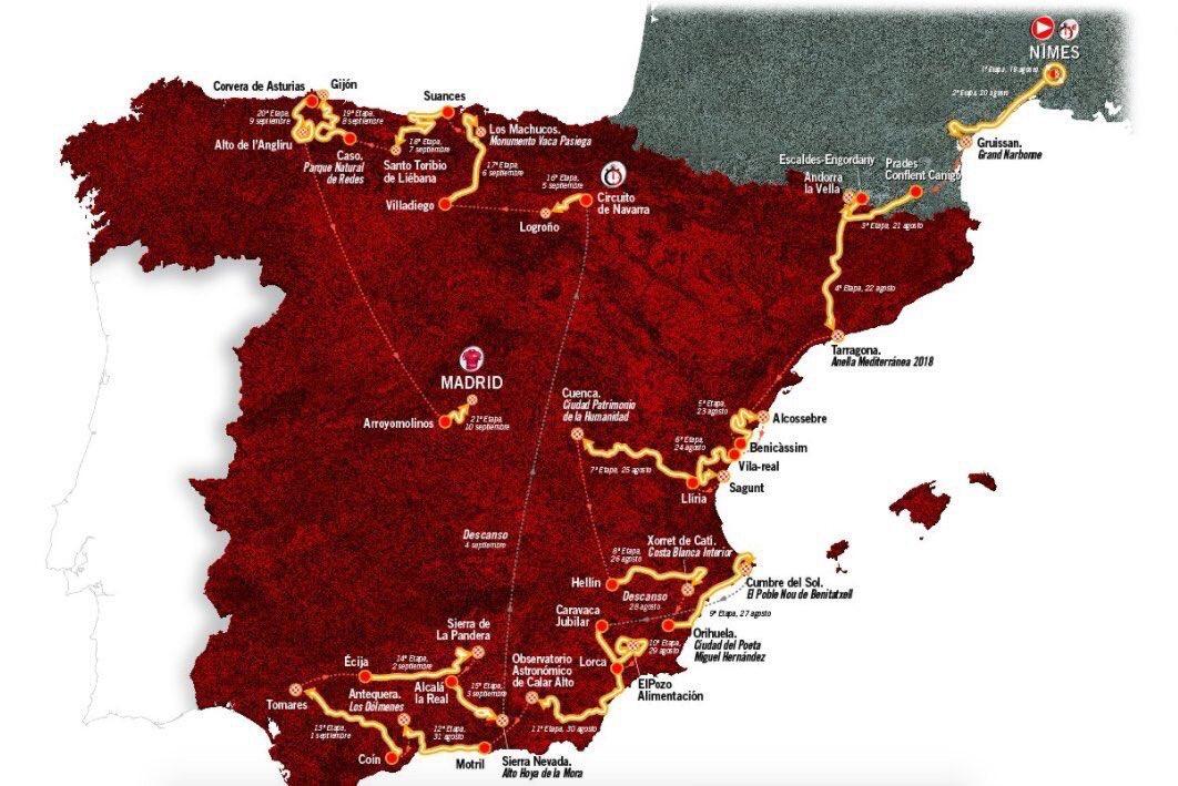 3 étapes en #Occitanie et un départ de #Nîmes pr la #Vuelta2017,bonne nouvelle pour les amoureux de vélo et l&#39;attractivité de notre Région !<br>http://pic.twitter.com/ssHDEuzhbE