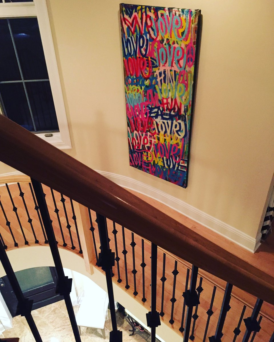 Literally #obsessed with my #graffiti #art piece by @chrisriggsart gracing a wall in my #home with a #newbeginning  I live my life in #love<br>http://pic.twitter.com/vJvY7cPUhR