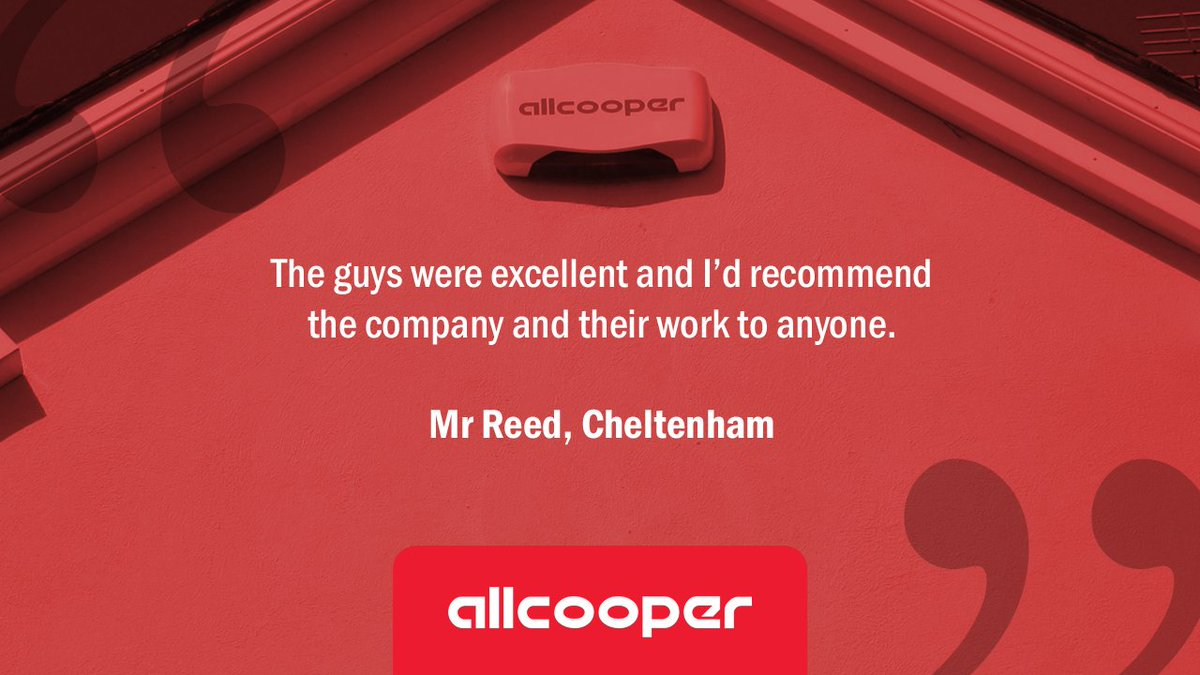We wanted to share this lovely piece of #FridayFeedback, received following a recent #HomeSecurity installation in #Gloucestershire:<br>http://pic.twitter.com/DicXgsyn5q