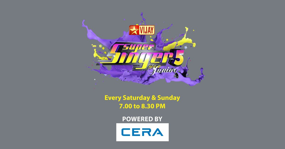 Have a blast this weekend with #SuperSingerJunior5, powered by #CERA, from 7:00 to 8:30 PM on @vijaytelevision.<br>http://pic.twitter.com/ycS6s3qMN7