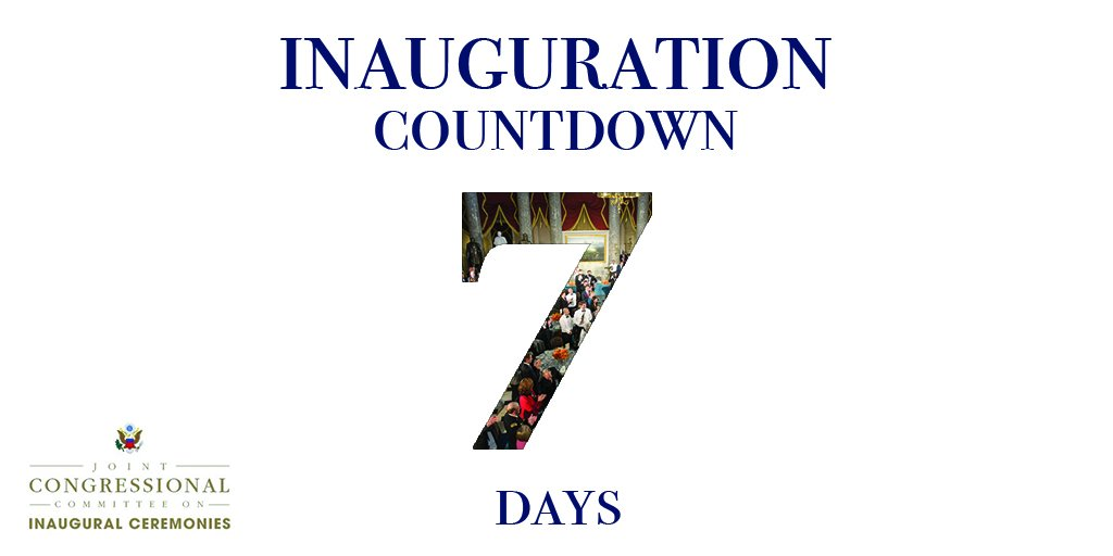 Jccic On Twitter 7 Days Until The 58th Presidential Inauguration