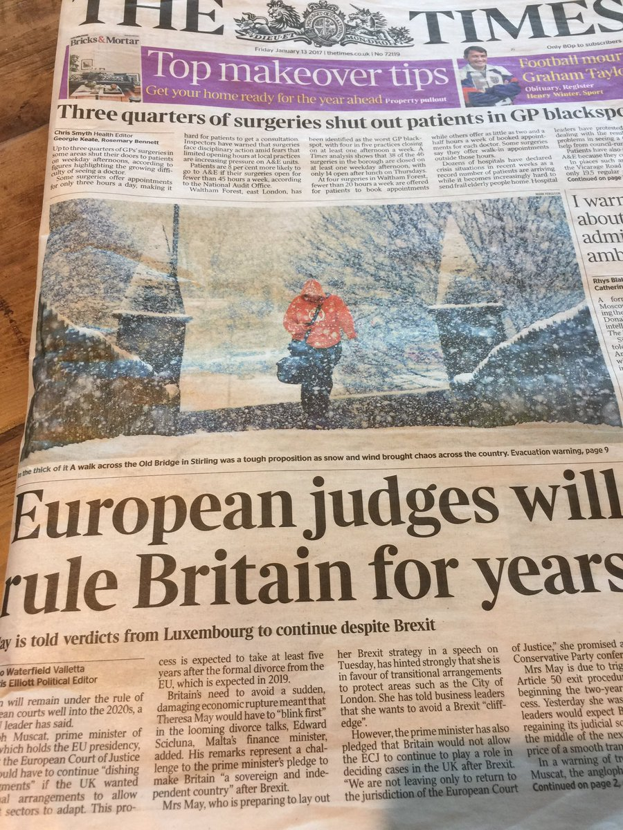 "Dear @thetimes , judges don't ""rule"" countries. They uphold the rule of law in them. That's not the same https://t.co/sBscaU5jk4"
