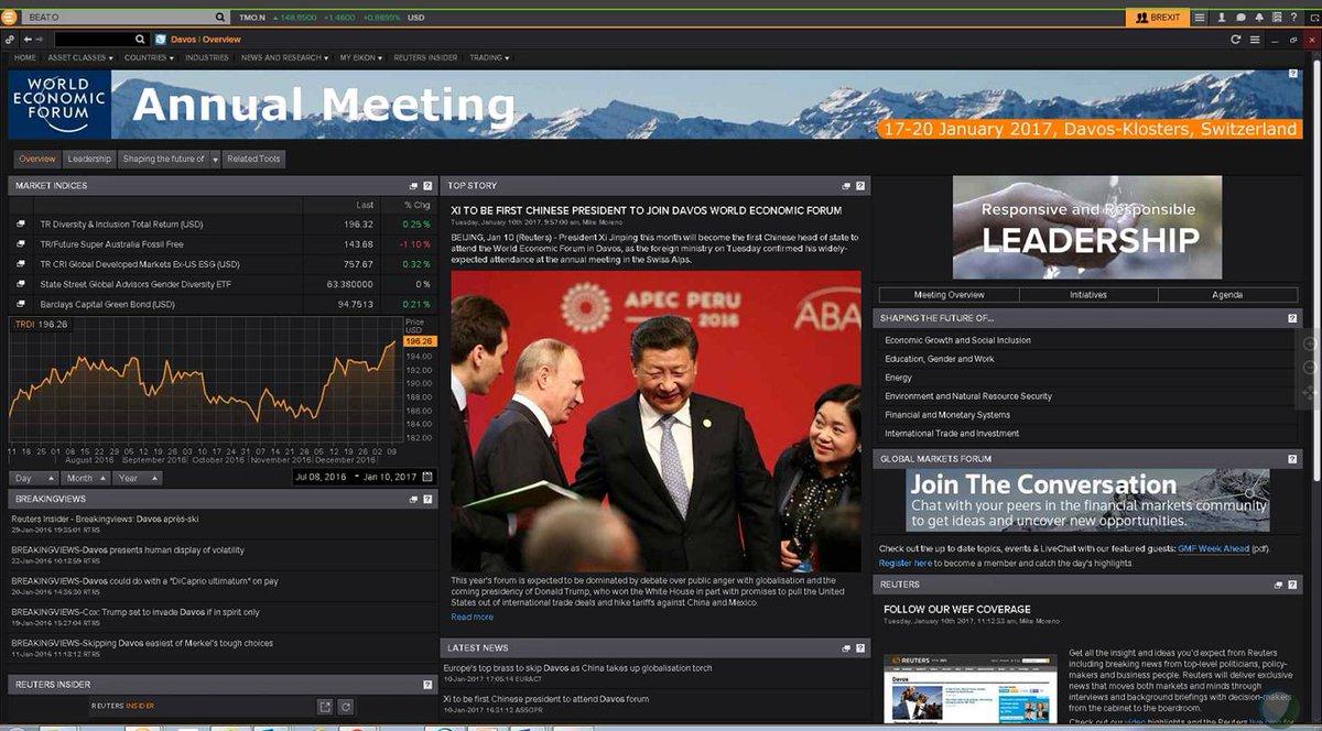 Announcing the app in eikon, w/ news, analysis, economic