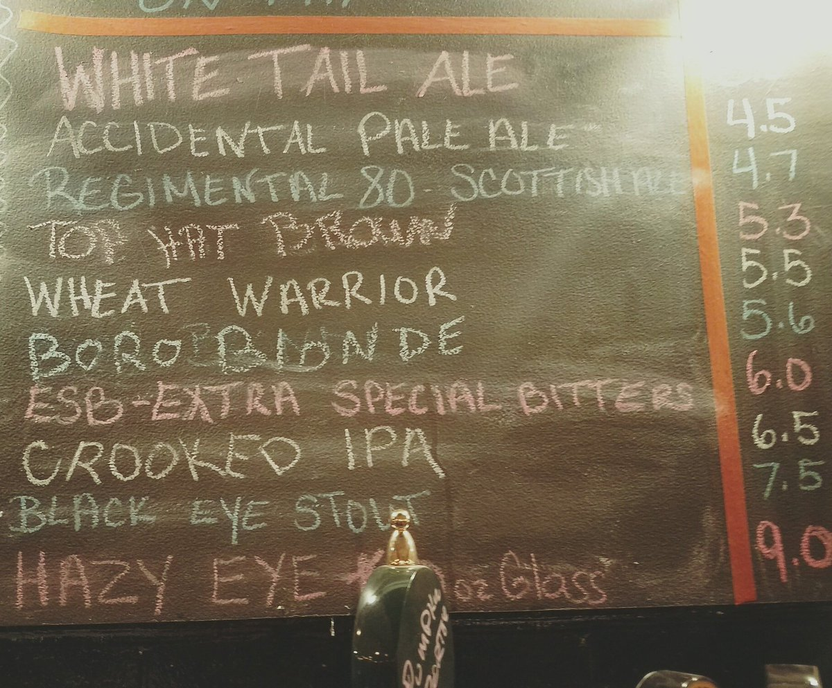 #full #chalk #board of #beer plus 2 extras plus cider!<br>http://pic.twitter.com/NCJf6Dyeng