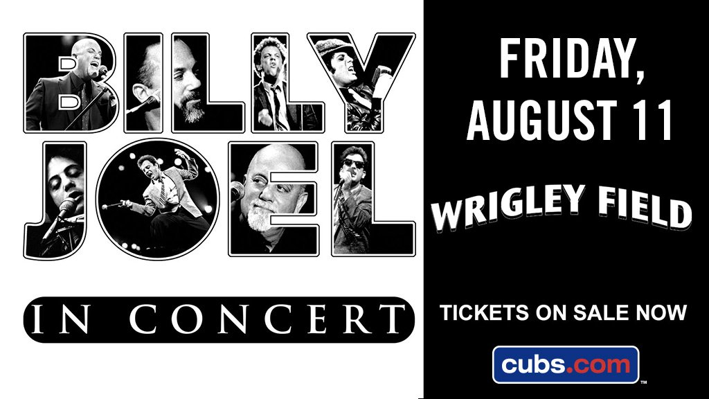 Get that keyboard ready ...  @billyjoel at #WrigleyField goes on sale...