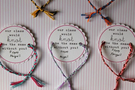 Friendship bracelets are just perfect for Valentine\'s Day!