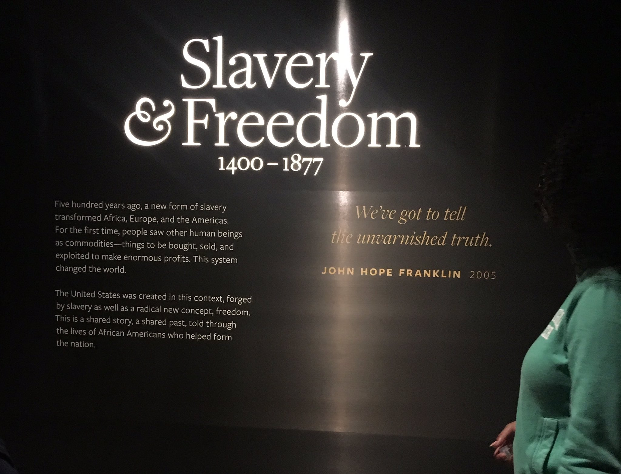 """The United States was...forged by slavery as well as a radical new concept, freedom."" @GTdiversity https://t.co/y7J2G4w4gV"
