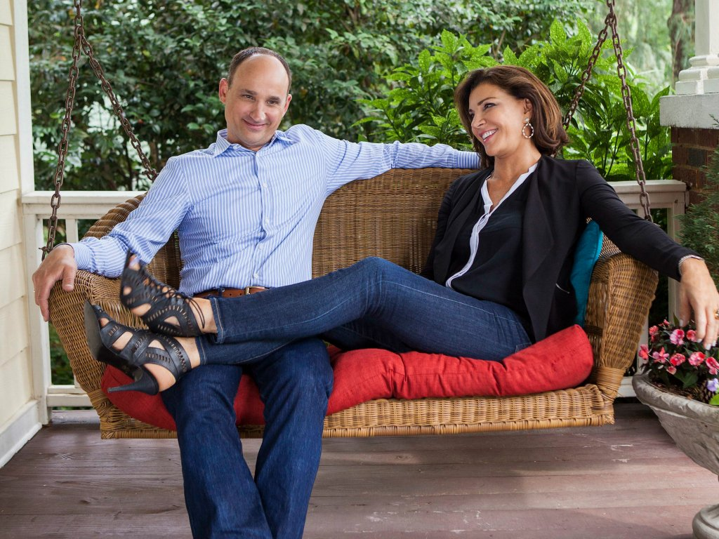 David Visentin with his co-host Hilary Farr