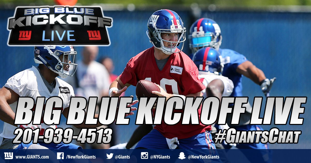 We&#39;re taking your calls right now on BBKL on @giants.com with @Jfeagles and I - call in - Susan in Bohemia is rocking it right. #giantschat <br>http://pic.twitter.com/58w8MwGfeK
