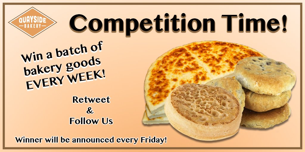 #Competition to win a batch of Eccles &amp; Potato cakes, Crumpets &amp; Scones   http://www. quaysidebakery.co.uk / &nbsp;    #WinIt #FreebieFriday #RtToWin #Comp #87RT <br>http://pic.twitter.com/mjFaPnM7aF