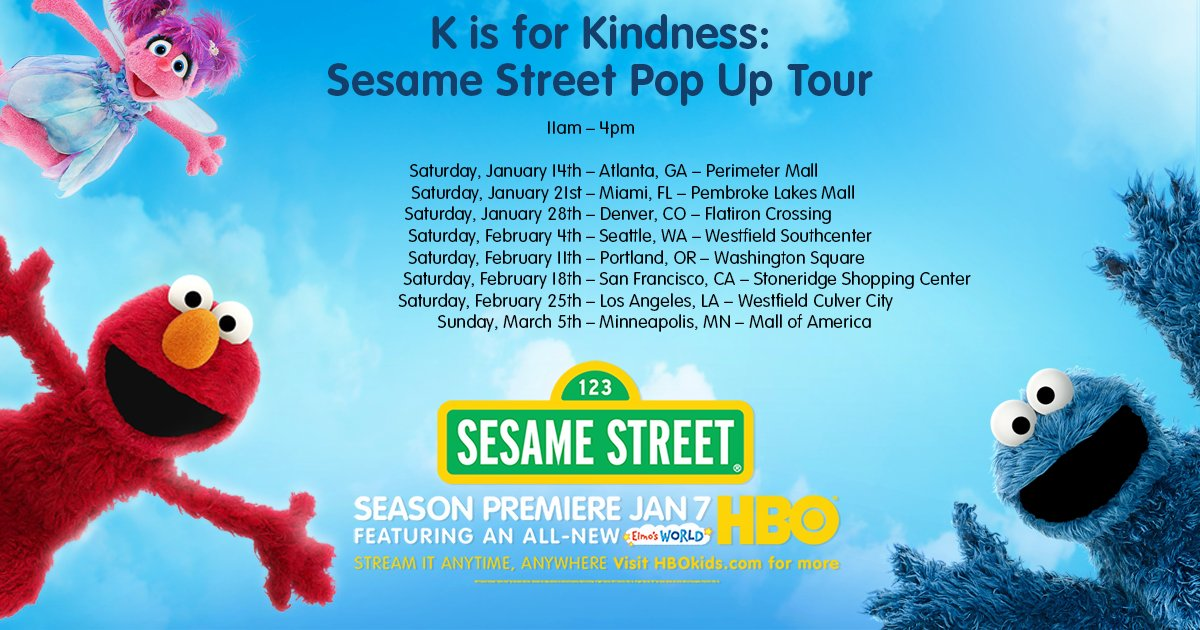 The K is for Kindness: Sesame Street Pop Up Tour is coming to a town n...