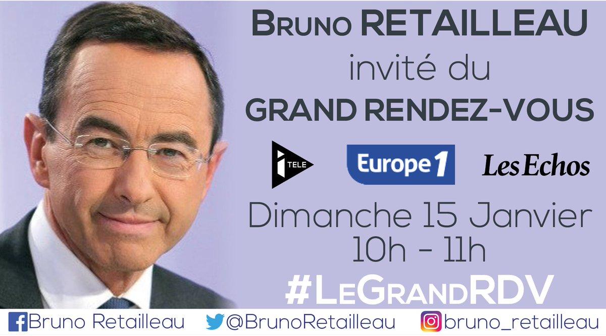 Retrouvez @BrunoRetailleau dimanche dans Le Grand rendez-vous @Europe1 @itele @LesEchos. #LeGrandRDV <br>http://pic.twitter.com/lg7YUF1Pz9