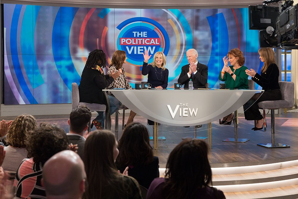 .@drbiden and I had a great time with great company on @TheView with Whoopi, Joy, Paula, and Jedidiah.